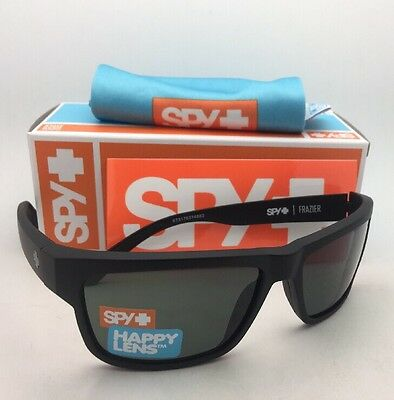 6dc349e31f New SPY OPTIC Sunglasses FRAZIER Matte Black Frames with Happy Grey-Green  Lenses