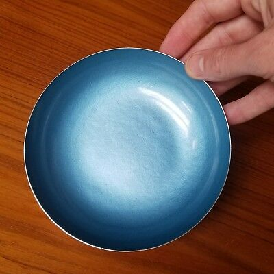 Reed and Barton Bright Blue enameled bowl 193