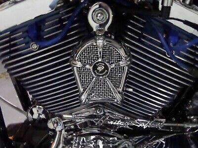 LeNale Engineering Chrome Engine Cooling Fan 92-17 Harley Softail Dyna Models