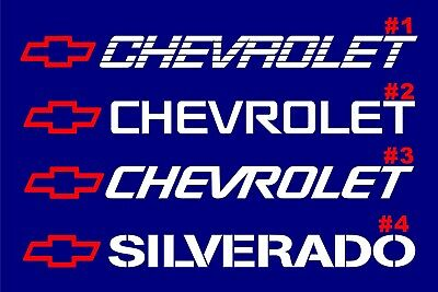 Chevrolet windshield window tailgate decal sticker Z71 Black Diamond Plate