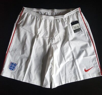 Nike England Shorts Mens Challenge Dri Fit Football Soccer Size 2XL Red White