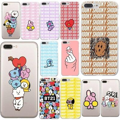 BTS Korea Bangtan Boys Young Forever BT21 Hard PC Phone Cases Cover For iPhone