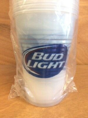 Bud Light 16 oz Plastic Solo Cups Nice Quality Official BL 50 Cup Pack NEW & F/S