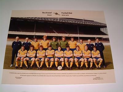 Arsenal Fc 1978-1979 Squad Away Strip Original Press Or Club Issued Photograph