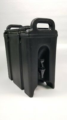 Cambro 250LCD 2.5 Gal. Insulated Beverage Dispenser Black catering cookout