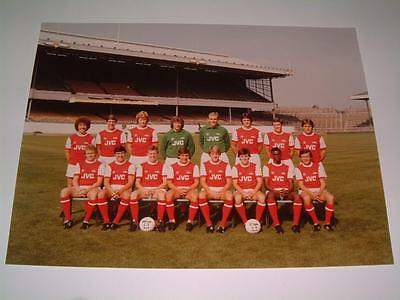Arsenal Fc 1981-1982 Squad Original Press Or Club Issued Photograph
