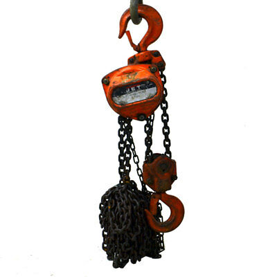 Jet L-90 Manual 3-Ton 6000# Hand Fall Chain Hoist w/ 15' Lift Chain Grade 80