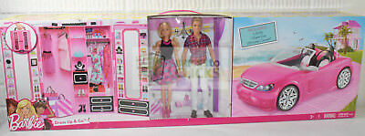 Barbie Dress Up and Go Includes Ultimate Closet, Glam Convertible + Barbie + Ken