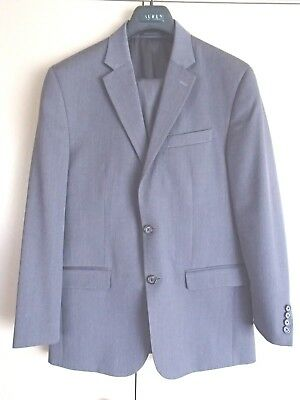 Lauren Ralph Lauren Men's Suit Pure Wool Grey  (Size 33/34 pants)  (40R jacket)