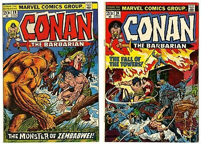 Conan the Barbarian #26 FN+,  28 VF  Marvel  1973  No Reserve