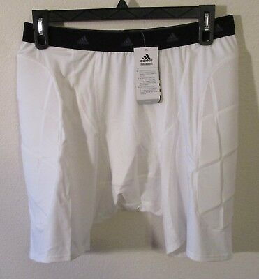 NWT Adidas TechFit AdiLegacy Adult Slider Shorts 3XL White MSRP$40