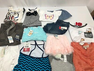 Wholesale Lot Assorted Brand New Childrens Boy  and Girls Clothing 12 Pieces