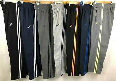 New Men's Fleece Track Pant, Tracksuit Pant, Jogger, Casual Wear W/Double Strip