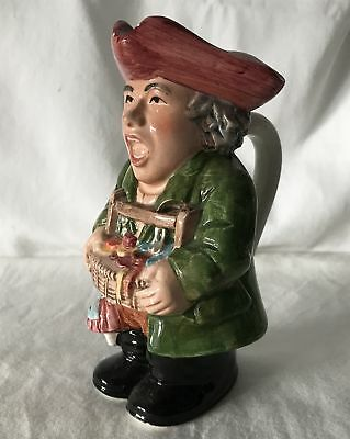 Vintage ~14cm Tall Hand Painted Toby / Character Jug Marked TINKER on Base