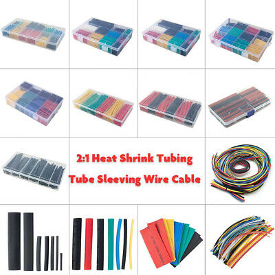 2:1 Polyolefin Heat Shrink Tube Tubing Insulation Sleeving Wire Wrap Cable Kit