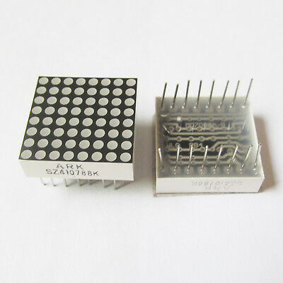 4pcs 8x8 Dot Matrix 1.9mm Red LED Display Common Anode