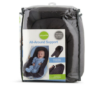 Playette -  All Around Head Support Charcoal  ( Pram Stroller Capsule Insert )