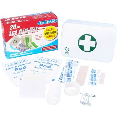 COMPACT FIRST AID EMERGENCY KIT BOXES Medical Package Safety Survival Set  Case