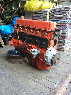 202 red motor with adjustable tappets flat top pistons rebuild or cleanup n use