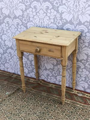Antique Victorian styl Pine Country Side  Table Good Size Two  draw  Good Order