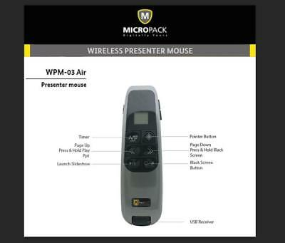 Wireless Presenter 2.4GHz PowerPoint Presentation Remote Control with Air Mouse