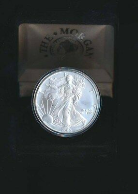 USA: 2005 SILVER 1oz Eagle UNC $1 in Custom Presentation Case