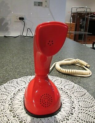 Collectable Red Ericsson ERICOFON telephone 1970's retro 'cobra' dial phone VGC
