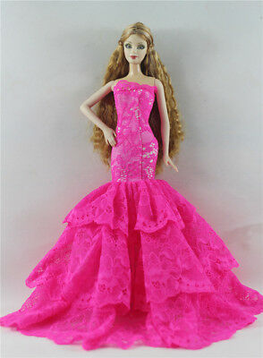 Fashion Princess Party Dress/Evening Clothes/Gown For Barbie Doll p84