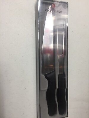 Victorinox Swiss made carving knife fork set - New Old Stock