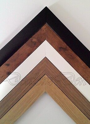 BLACK WHITE OAK WOOD EFFECT PICTURE POSTER PHOTO FRAME COLOURS SIZES Stand Hang