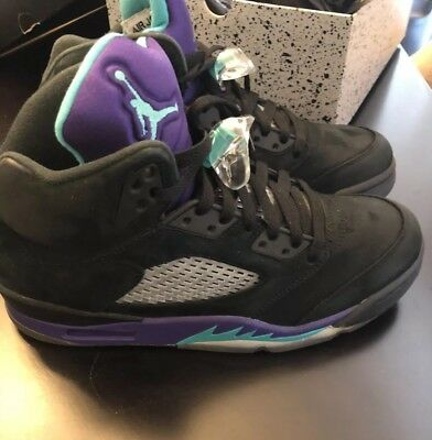 f4d03253e785c3 Air Jordan V 5 Retro Size 8 Black Emerald Grape Ice OG 2013 Nike 136027-