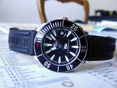 """AMAZING PEN DUICK """"Eric Tabarly"""" Automatic Pro Divers 100M NOS"""