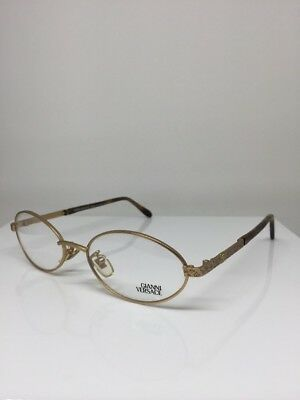 d262abcfec24 New Vintage Gianni Versace H40 Eyeglasses C. 13M Satin Gold 52-18mm Made  Italy