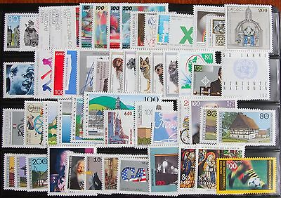 Germany Complete Year 1995 Stamp Set + Souvenir Sheet Singles MNH German Stamps