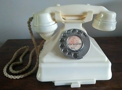 GPO Ivory Bakelite Telephone with bell-set