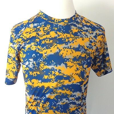 39b461eb Badger Sport Digital Camouflage Athletic Shirt Blue & Gold Mens Small