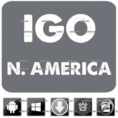 iGo Navigation 2018 N. America Maps App Compatible WinCE and Android GPS 9 Primo