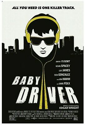 Exclusive Baby Driver Movie Poster with HD movie digital download code!