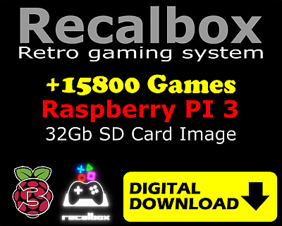 32GB Recalbox 15800+ Games Configured and Ready Download Image for PI3 RetroPie