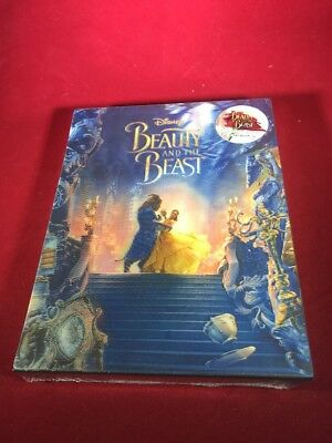 Disney's BEAUTY AND THE BEAST 2D + 3D Blu-ray STEELBOOK BLUFANS DBL Lenticular