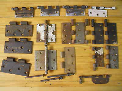 Large lot of antique Victorian and early 20th Century door hinges and parts