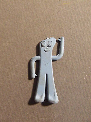Small Vintage Light Blue Rubber Gumby Figurine 1988