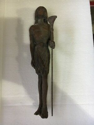 Ancient Egyptian Late Period King-Queen Guard Statue
