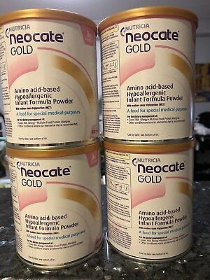 Brand New 4x Unopened Tins - Neocate Gold 400g Baby Formula 0-12 Months