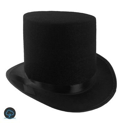 Low Top Hat Cylinder For Kids Men Women Silk Chimney Halloween Monopoly Party