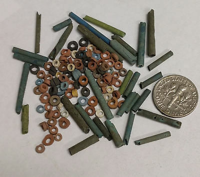 More than a Hundred 2500 Year old Ancient Egyptian Faience Mummy Beads (K6)