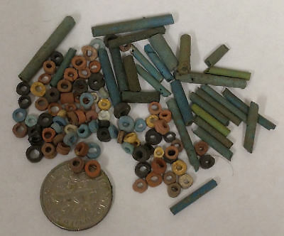 More than a Hundred 2500 Year old Ancient Egyptian Faience Mummy Beads (K8)
