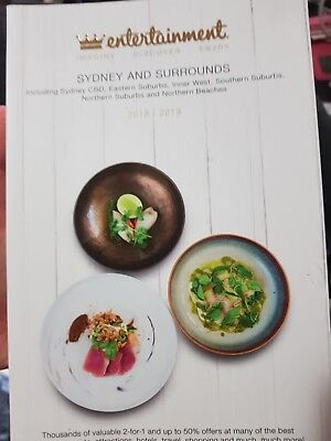 Entertainment Book Sydney 2018/19 (5 vouchers for $6 - incl. Postage)