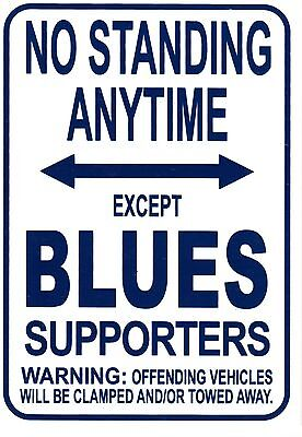 AFL Carlton Blues No Standing Except Blues Supporters Sign Poster