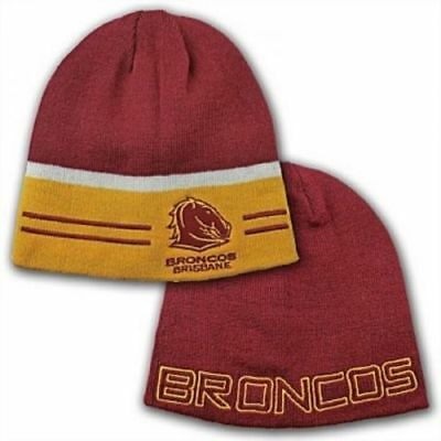 Official NRL Brisbane Broncos Switch Reversible Embroidered Beanie